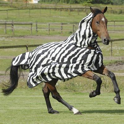 Deka Síťovaná Bucas Buzz-Off Full Neck Zebra 125cm