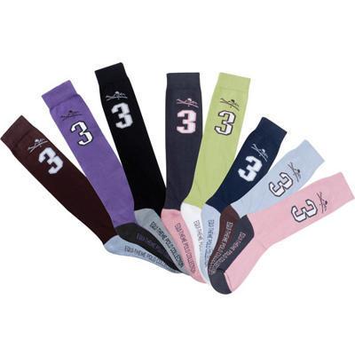Ponožky Equi-Theme Polo hnědé/světle modré 36-40