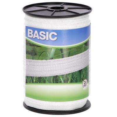 Ohradníková páska AKO Basic 2cm 200m bílá