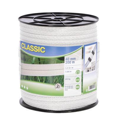 Ohradníková páska AKO Classic 4cm 200m bílá