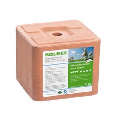 Solný liz Solsel minerální bez mědi kostka 10kg