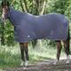 Odpocovací deka EquiTheme Combo s krkem 135cm šedá